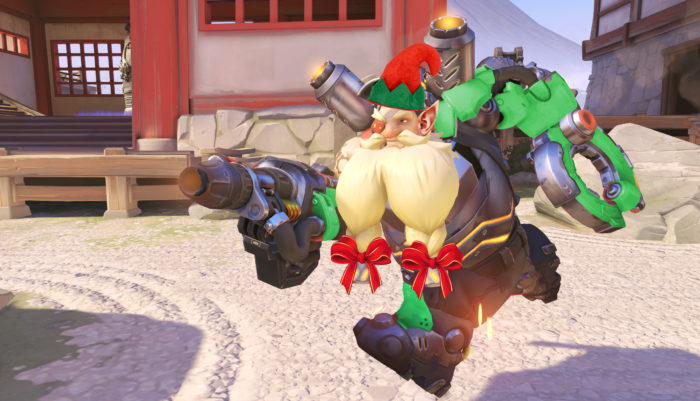 torbjorn, elf, skin, overwatch, christmas, event