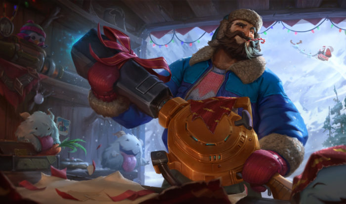 snow day graves league of legends snowdown skin christmas holiday