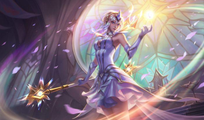 Elementalist Lux league of legends skin splash art