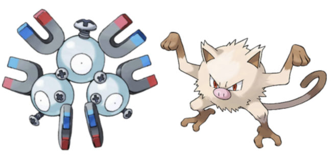 Can Magneton breed with Mankey?