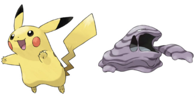 Can a Pikachu breed with a Muk?