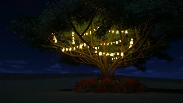 Hubba's Light Strung Tree