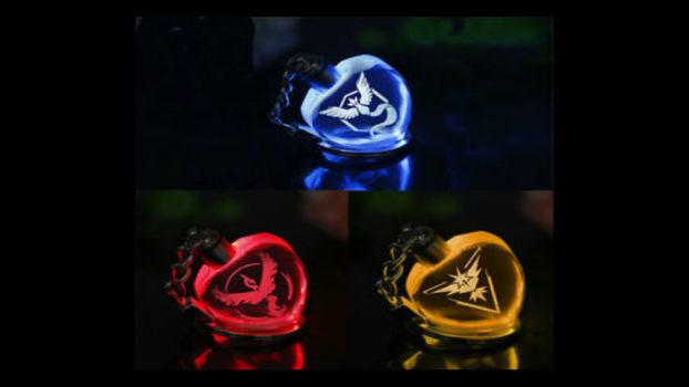 Crystal LED Team Keyrings