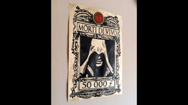 Ezio Auditore Wanted Poster