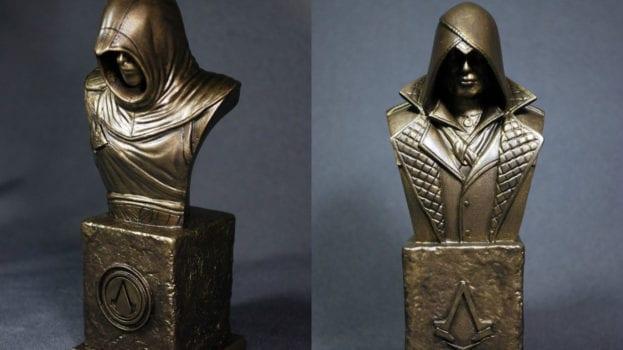 Faux Bronze Assassin Sculptures