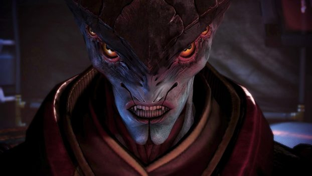 """True or False: According to Javik in Mass Effect 3, the Salarians, before they rose to galactic prominence, """"used to eat flies."""""""