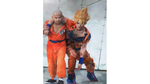 Krillin and Super Saiyan Goku