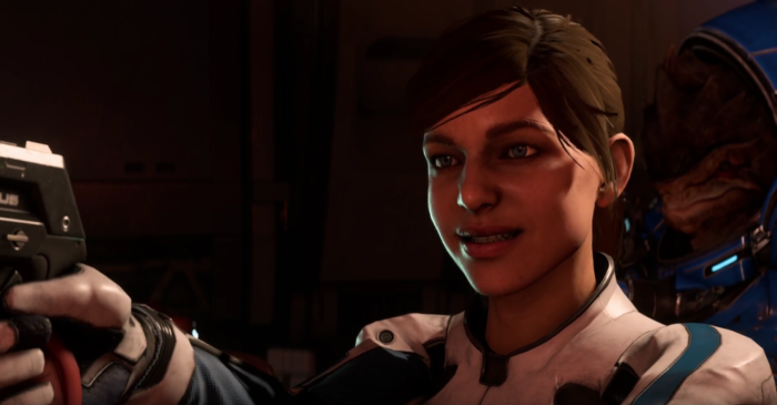 Worried Mass Effect Andromeda Ryder facial animations