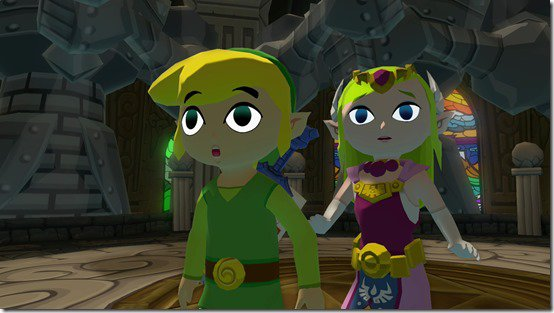 wind waker link and zelda
