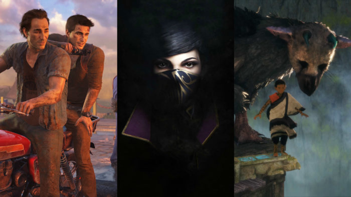 action adventure uncharted 4, dishonored 2, the last guardian, action adventure