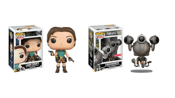 pop! vinyl, figures, fallout 4, lara croft