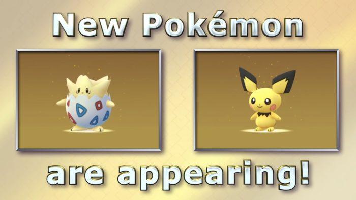 Pokemon GO Pichu and Togepi