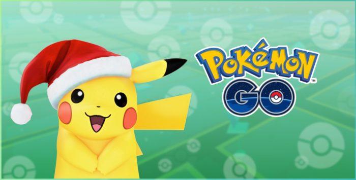 Pokemon GO Santa hat Pikachu christmas