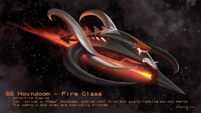 Pokemon Houndoom Space Ship