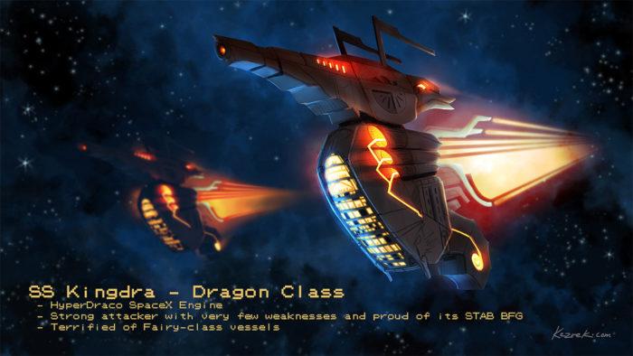 Pokemon Kingdra Space Ship