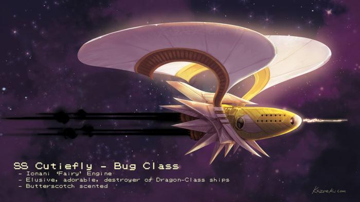 Pokemon Cutiefly Space Ship