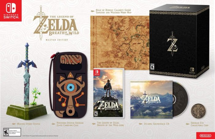 The Legend of Zelda, Breath of the Wild, Master edition, collector's edition
