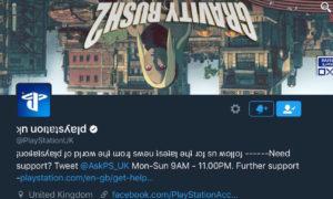 Playstation UK's Twitter Gravity Rush