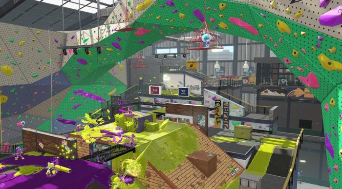 get your first look at splatoon 2 s barnacle sports club stage
