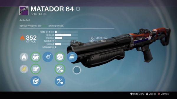 Matador 64, Destiny, PvP