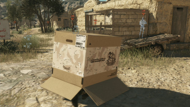 10. Which of the following can you NOT do with the cardboard box in MGSV: The Phantom Pain?