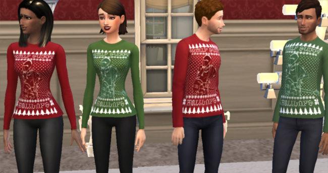Sickly Sweet Holidays - Dallon Weekes Simlish Christmas Sweater