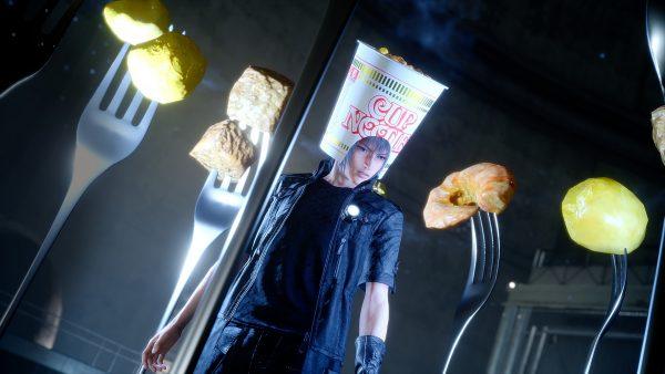 final fantasy xv cup noodle helmet