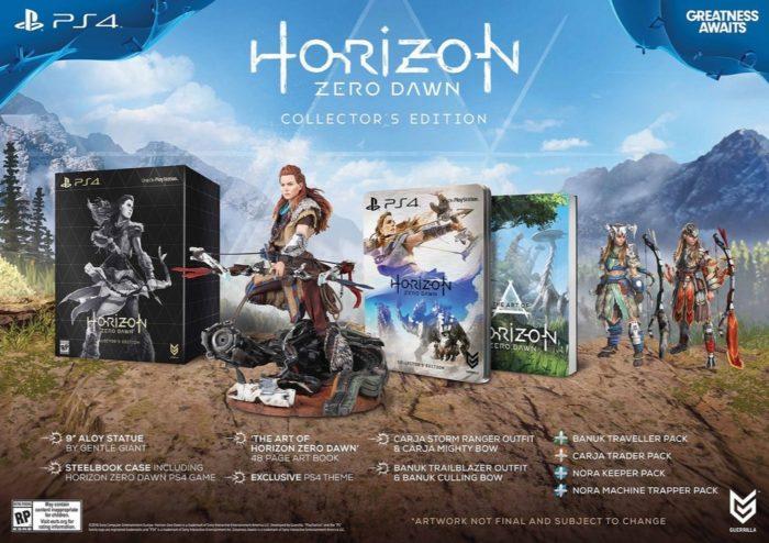 horizon zero dawn collector's edition