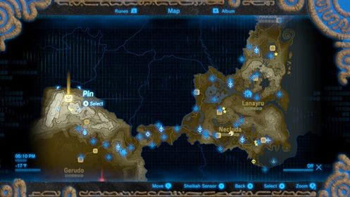 zelda breath of the wild eight heroine map