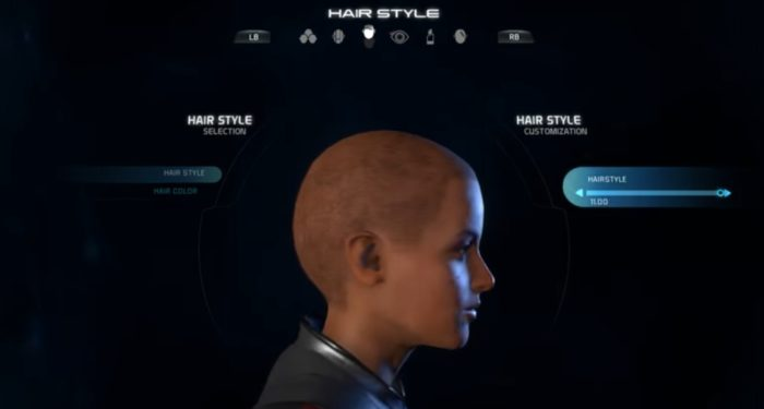 Mass Effect Andromeda Female Hairstyle 011