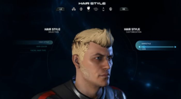 Mass Effect Andromeda Male Hairstyle 1