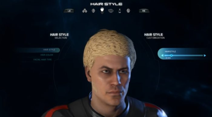 Mass Effect Andromeda Male Hairstyle 2