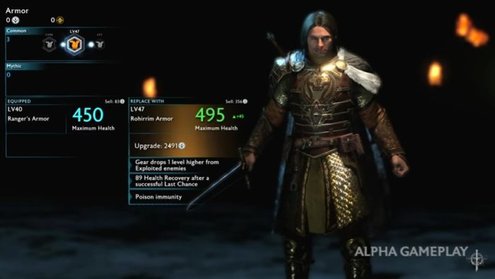 Shadow of War armor