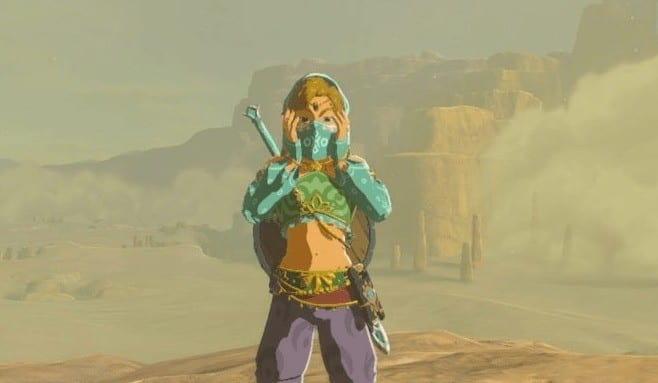 zelda, breath of the wild, gerudo town