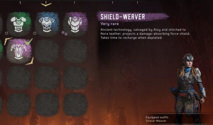 shield weaver outfit horizon zero dawn