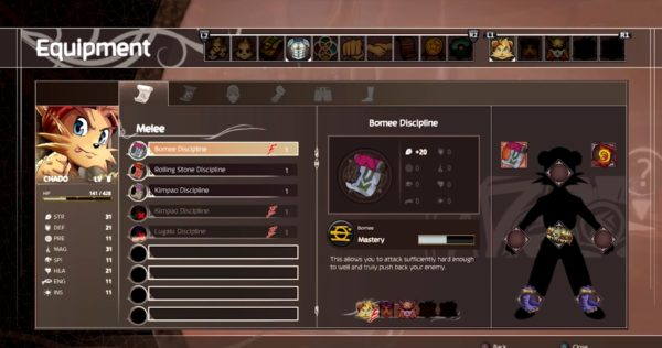 Shiness: The Lightning Kingdom, Inventory