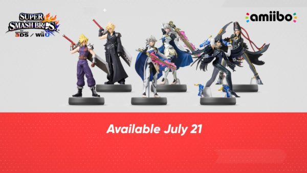 Cloud, Bayonetta, and Female Corrin Amiibo Release Date Announced