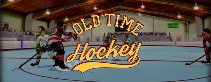 old time hockey banner