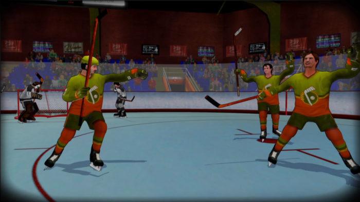 old time hockey celebration