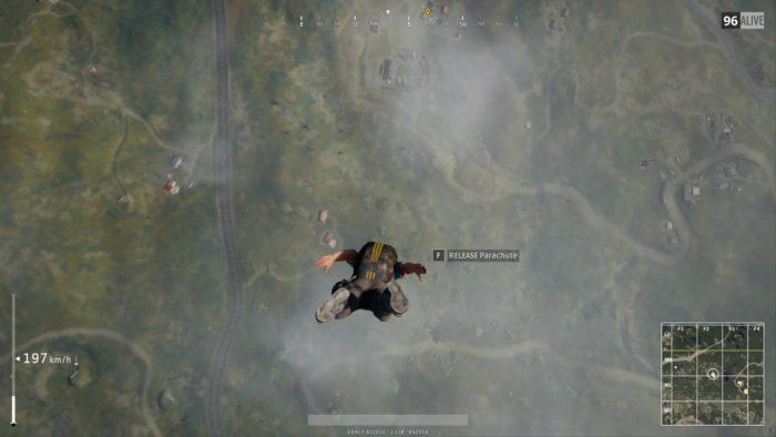 playerunknown battlegrounds parachute