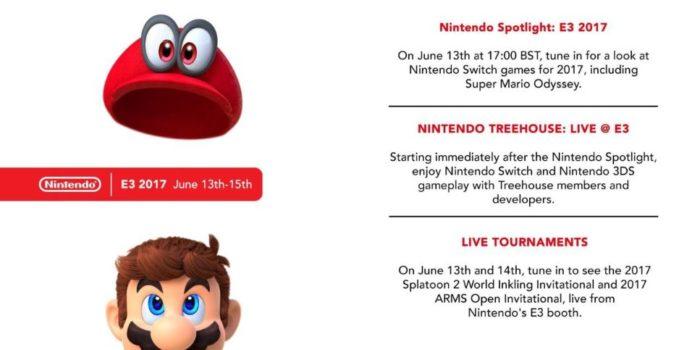 Nintendo Schedule E3 2017