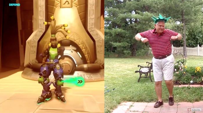 Overwatch emote dad