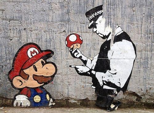 gaming, street art, banksy