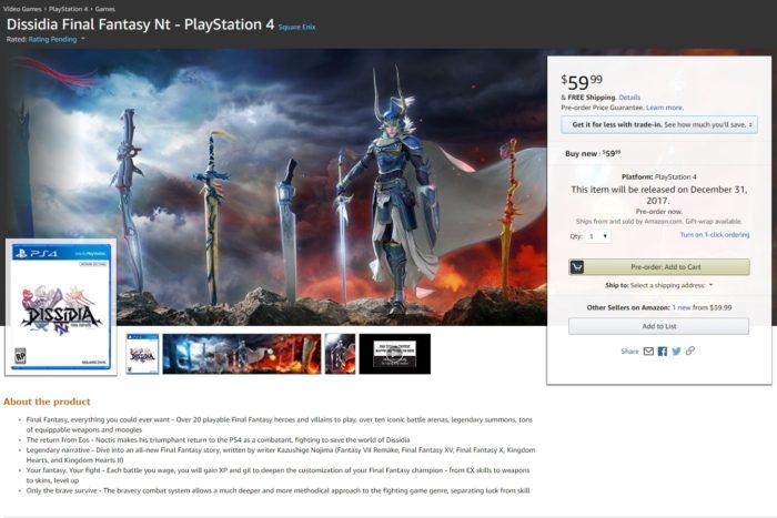 Dissidia Final Fantasy Leak