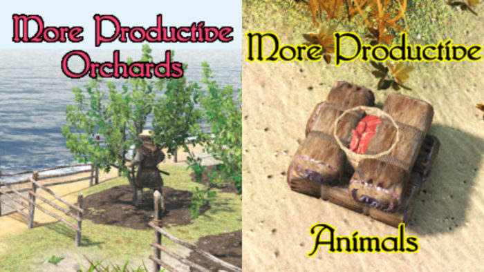 orchards and animals
