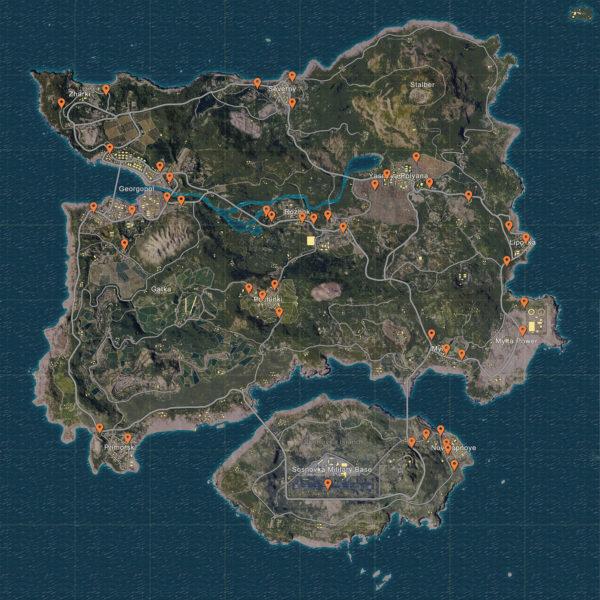 playerunknown-battleground-car-spawn-locations-map