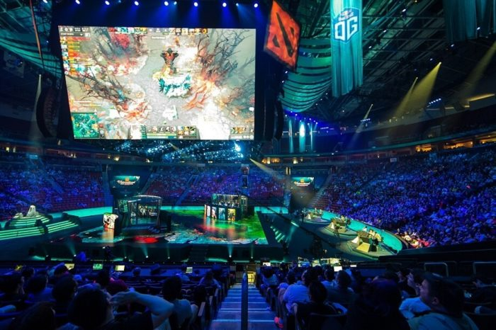 Key Arena Image of DOtA 2 tournament.