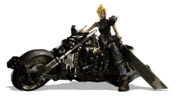 Cloud & Daytona Bike - Final Fantasy VII - Play Arts Kai