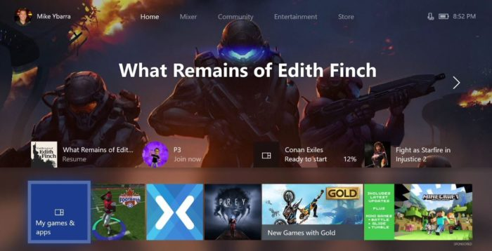 xbox one x dashboard redesign