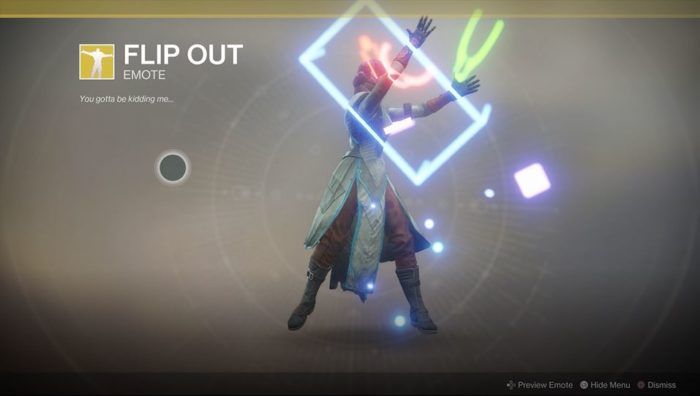 Destiny 2 Flip Out Emote